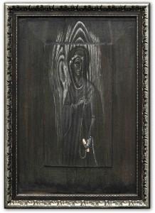 Tikhomirov, E. Svidritsky. « Bonne Nouvelle », 52?36, détrempe sur bois, cire, or, argent. 2007-2008. © A. Tikhomirov
