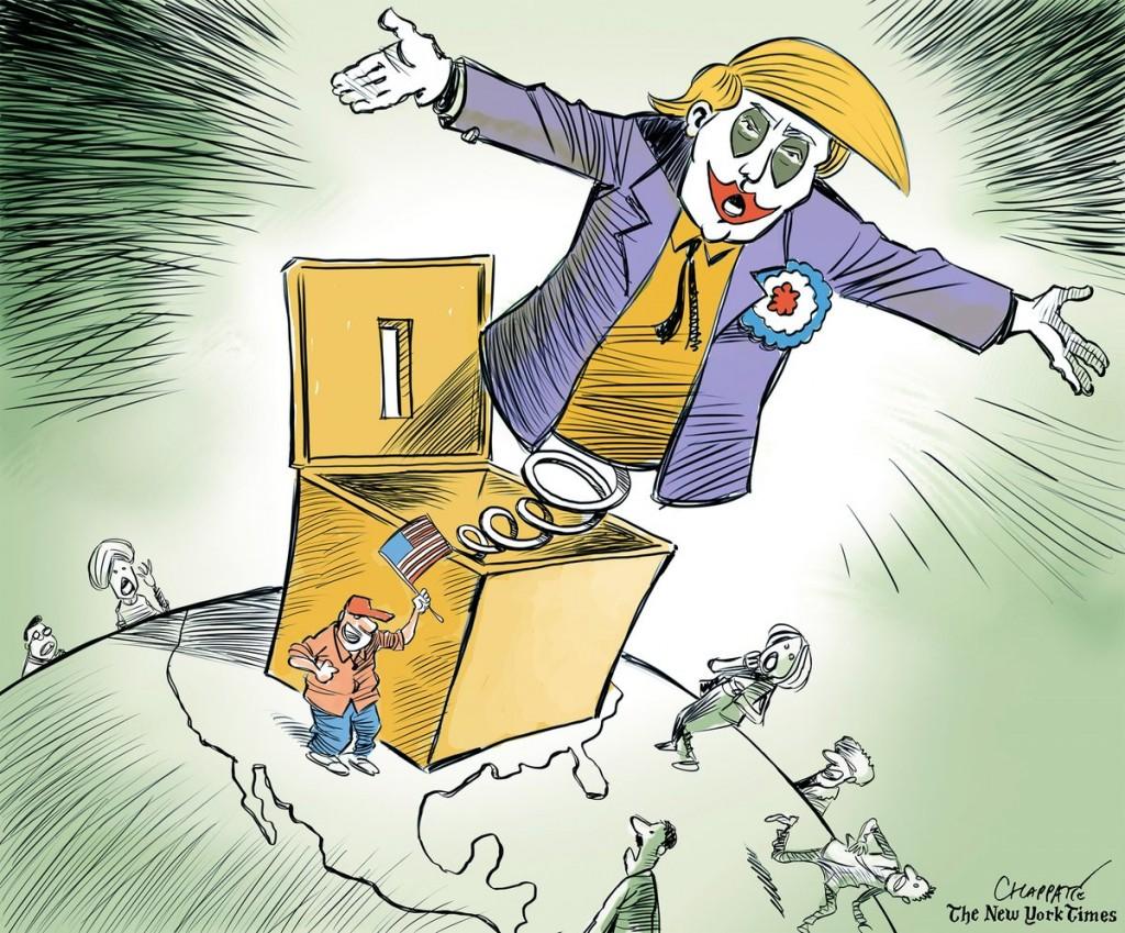Election de Donald Trump : les dessinateurs réagissent en caricatures