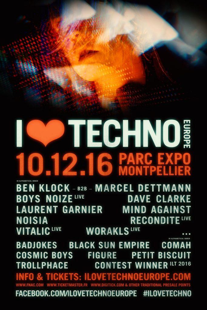 Gagnez 2 places pour «I Love Techno Europe» au Parc des Expositions de Montpellier le samedi 10 décembre