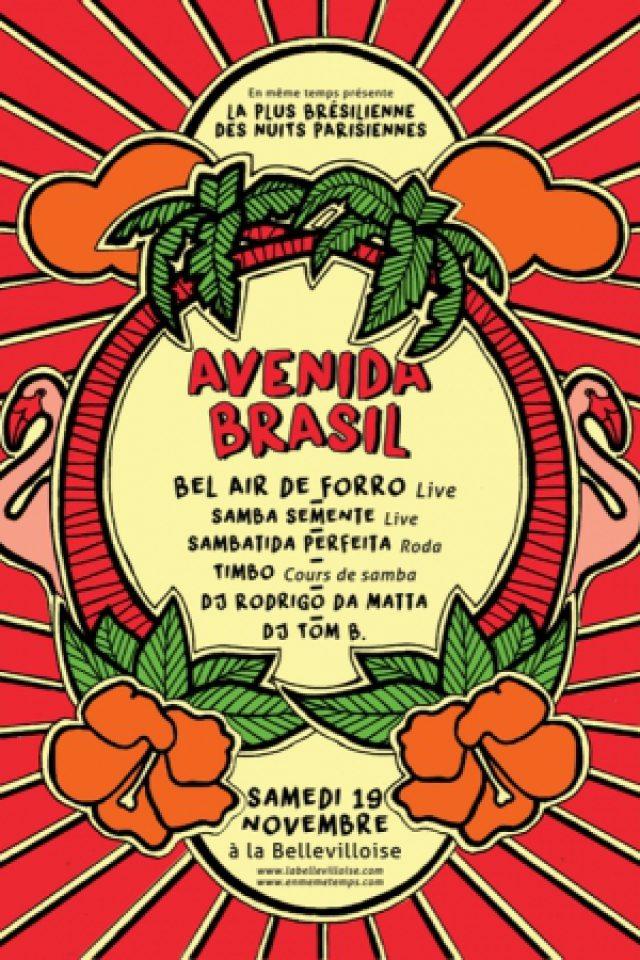 Gagnez 3×2 places pour le concert «Avenida Brasil» à la Bellevilloise le samedi 19 novembre