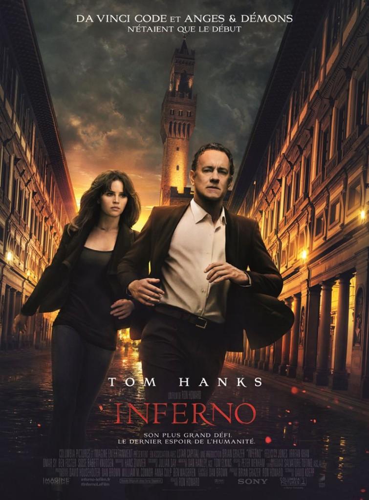 Box-office France semaine : 465000 entrées pour Inferno avec Tom Hanks