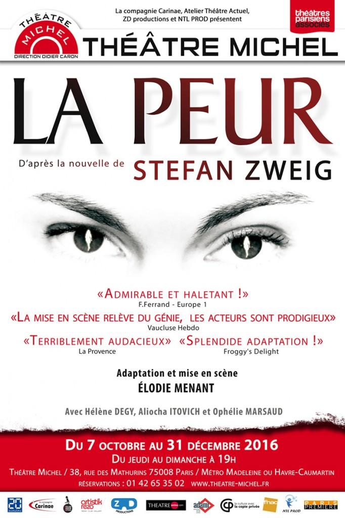 La Peur de Stefan Zweig au Theatre Michel