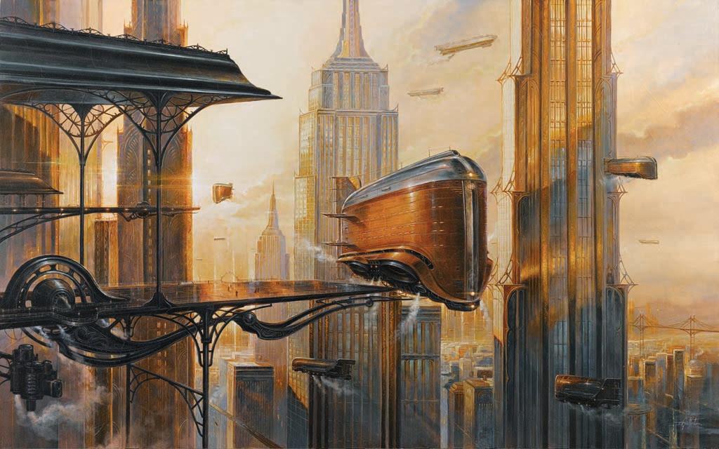 [Interview] Steampunk ? Science-Fiction? Heroic-Fantasy ? Les toiles de Didier Graffet dépassent les cases du genre