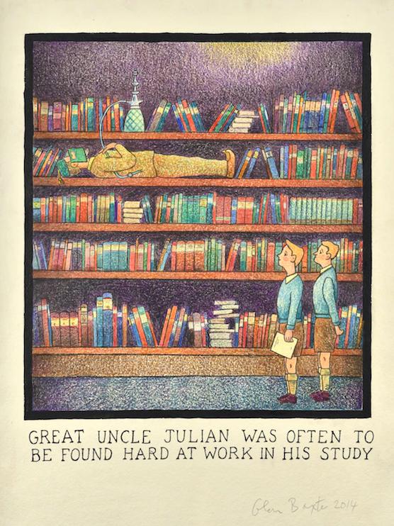 Le dessinateur Glen Baxter, ce grand enfant, expose à la galerie Isabelle Gounod