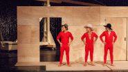 Trystan Pütter,  Martin Wuttke , Milan Peschel; Probenfotos , Volksbühne am RLP, 10/2016, Regie Pollesch, Bühne Steiner, DISKURS