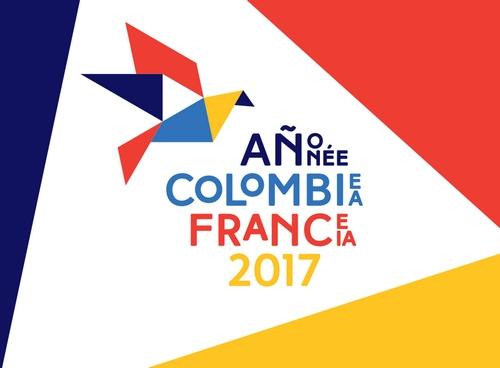 Logo de l'année France-Colombie.