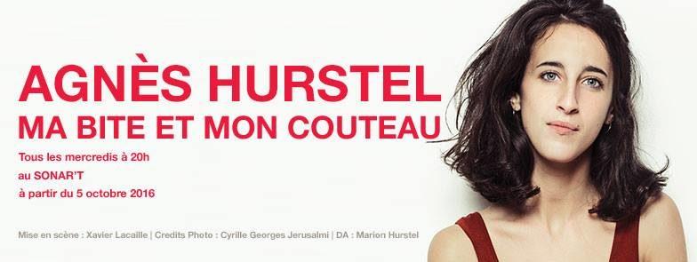 [Ma bite et mon couteau] Agnès Hurstel dans un hilarant premier one-woman show