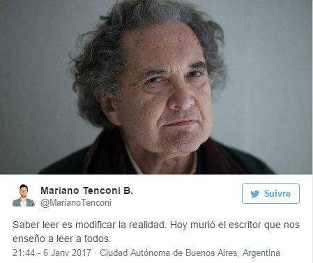 L'écrivain argentin Ricardo Piglia est décédé