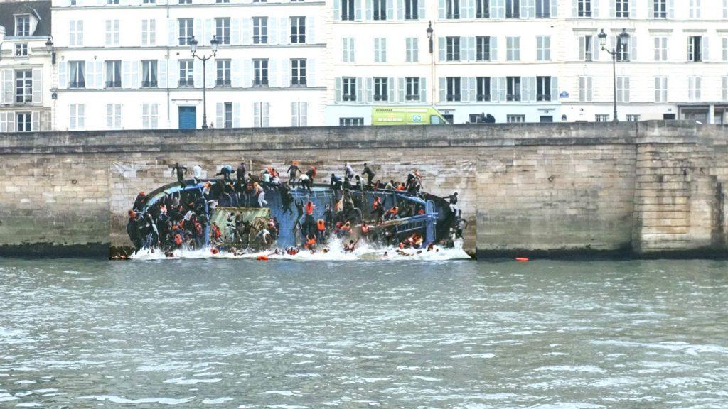 «Le radeau de Lampéduse» le BAAM et le street art pour faire parler des migrants