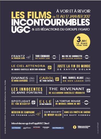 Gagnez 2 pass pour «Films Incontournables UGC» qui a lieu du 11 au 18 janvier
