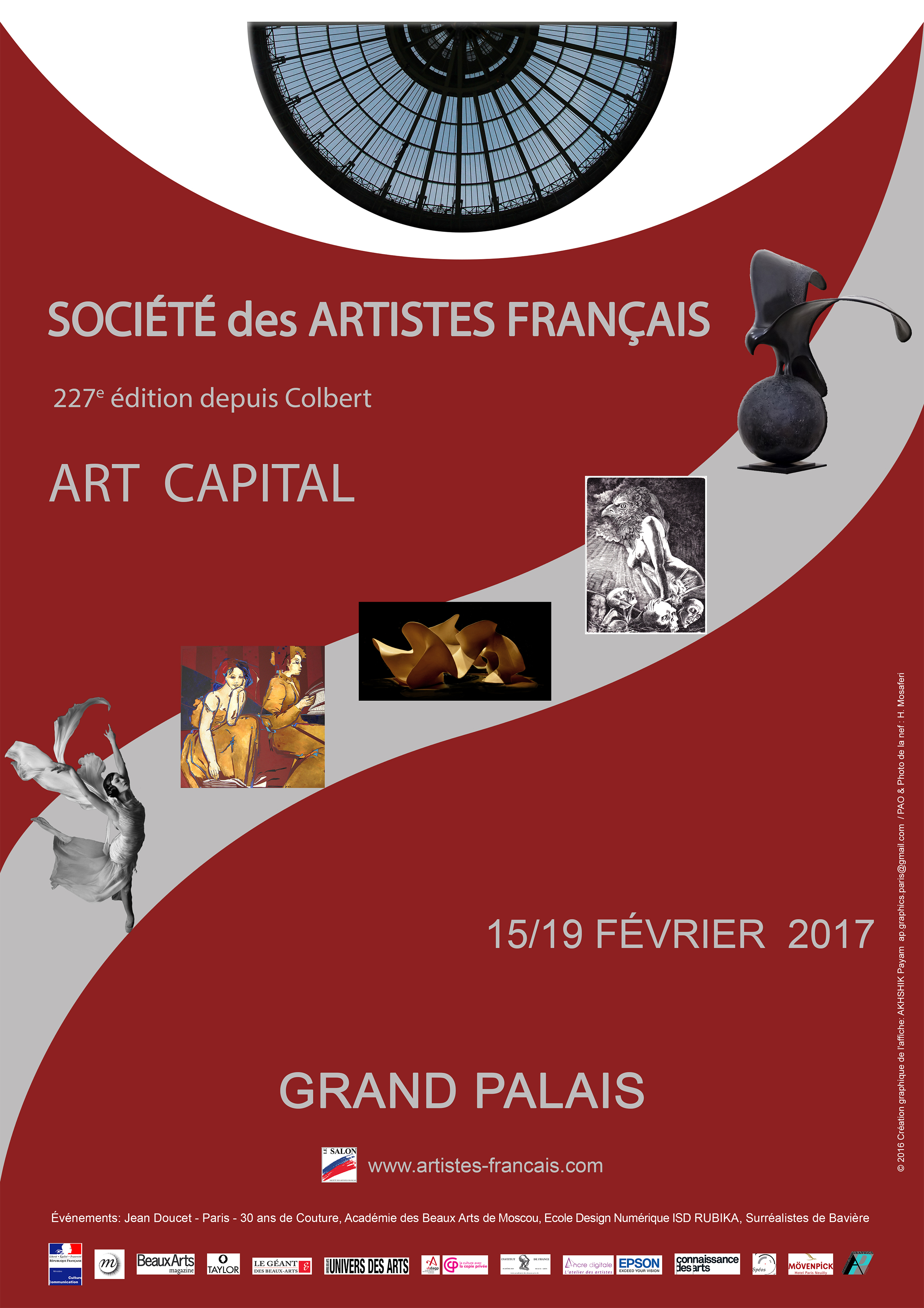 Le salon des artistes fran ais du 15 au 19 f vrier 2017 au for Salon de l orientation paris 2017