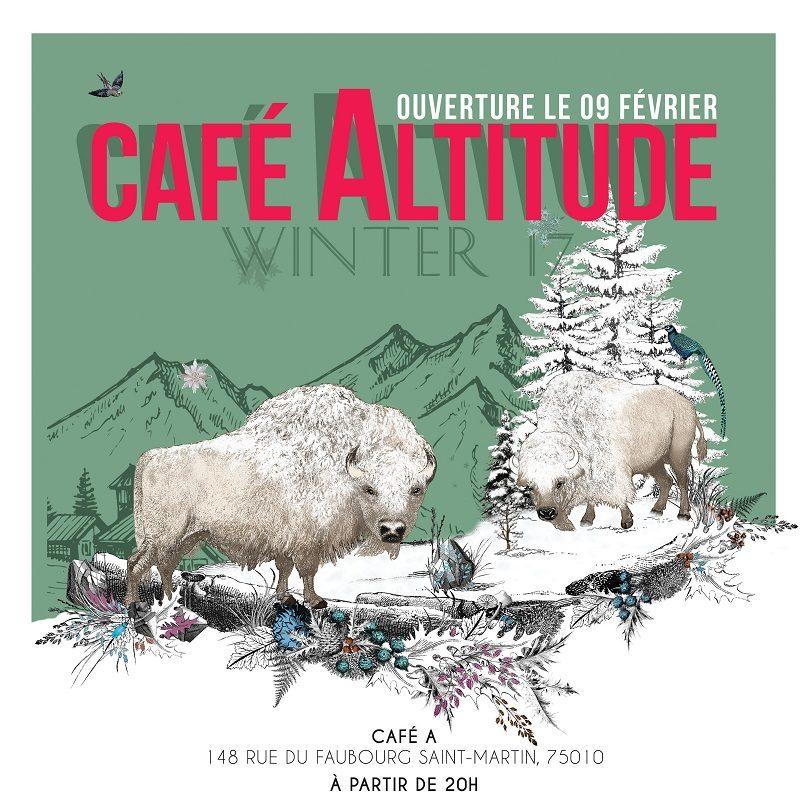 Zubrowka transforme le Café A en «Café Altitude», un chalet d'après-ski, à deux pas de la gare de l'Est