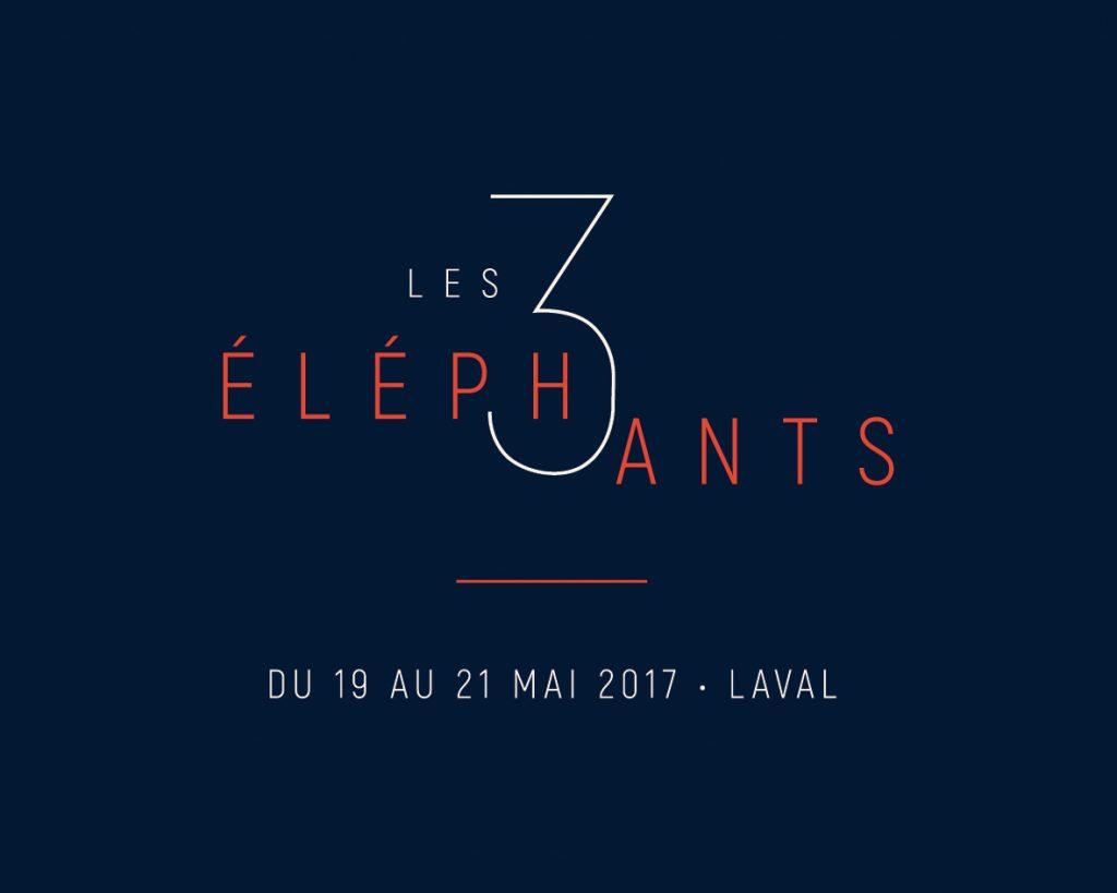 Gagnez 3 pass 2 jours pour le Festival Les 3 éléphants (Laval)