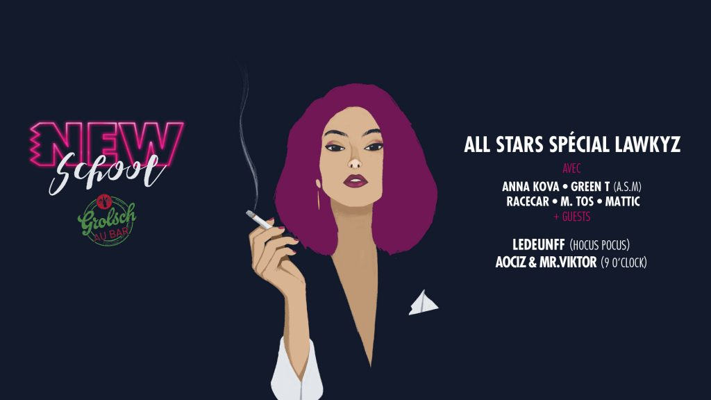 Gagnez 3×2 places pour la soirée NEWSCHOOL : ALL STARS LAWKYZ au New Morning