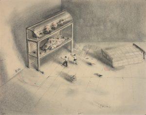 wu-xiaohai_danse-avant-de-dormir_40x50-cm_fusain-sur-papier_2009