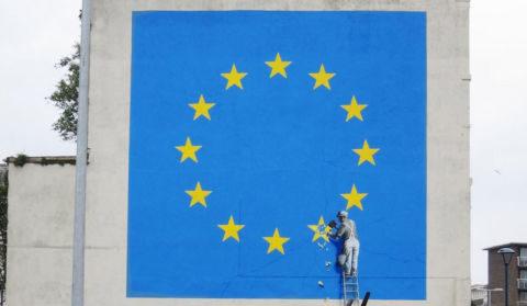 Après Calais et Bethléem, le Brexit: Banksy de retour en Angleterre