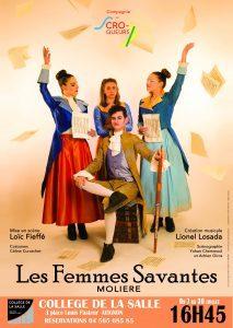 «Les femmes savantes» de Molière croquées par «Les Croqueurs» [Avignon OFF]