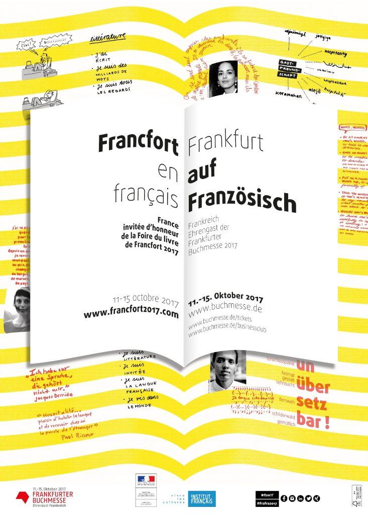 Présentation du pavillon français de la Foire de Francfort 2017