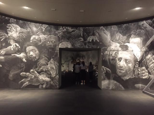 [Bâle] Jérôme Zonder dessine l'antichambre du «Mengele-Totentanz» au Musée Tinguely
