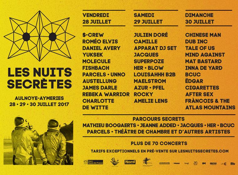Gagnez 1 x 2 places pour le festival Nuits Secrètes (le 28 juillet, à Aulnoye Aymeries)