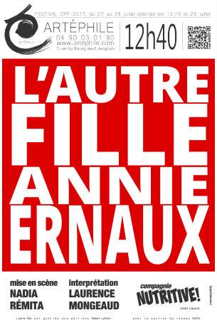 [AVIGNON OFF] L'autre fille d'Annie Ernaux au théâtre Artéphile