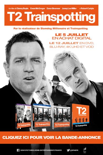 Gagnez 3 Blu-ray du film T2 TRAINSPOTTING