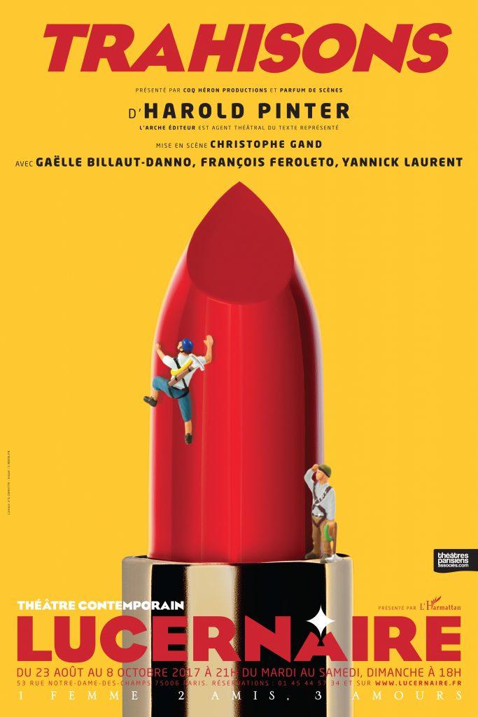Trahisons, de Harold Pinter mise en scène Christophe Gand au Lucernaire