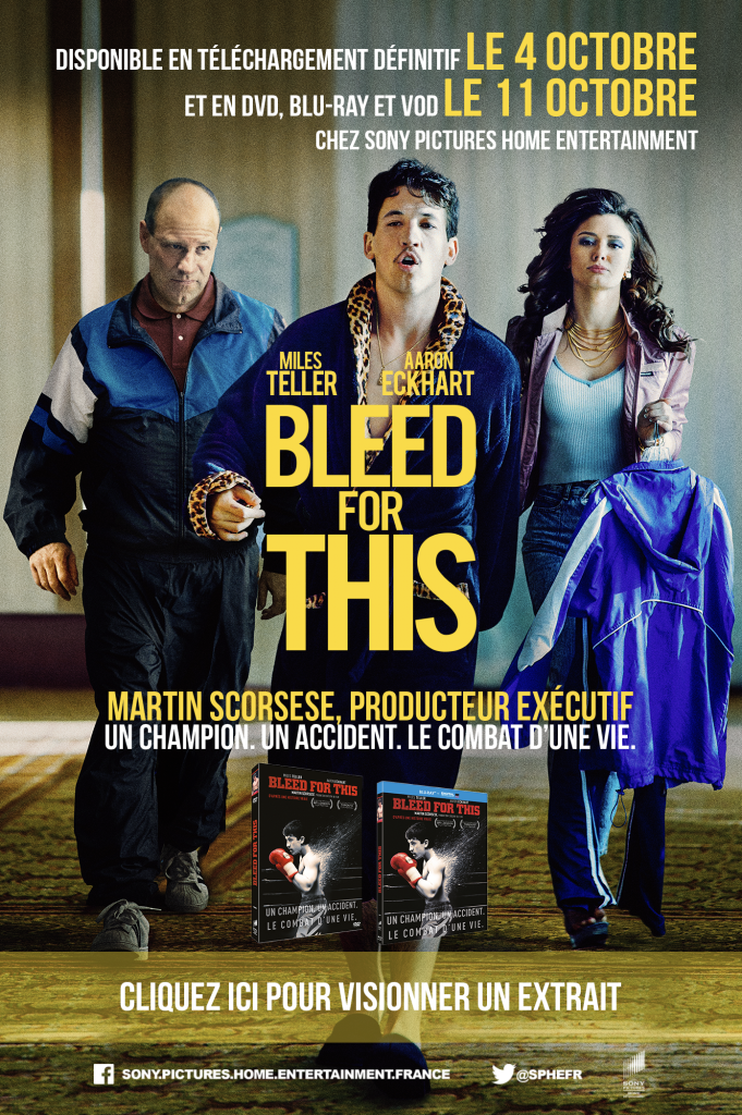Gagnez 2×1 DVD de BLEED FOR THIS