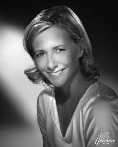 PORTRAIT OF CLAIRE CHAZAL FAMOUS FRENCH JOURNALIST ON TV