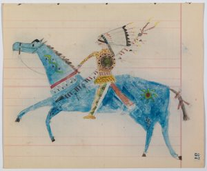 ledger-drawings-attributed-to-joseph-no-two-horns-he-nupa-wanica-hunkpapa-lakota-ca-1920-graphite-and-watercolor-on-paper