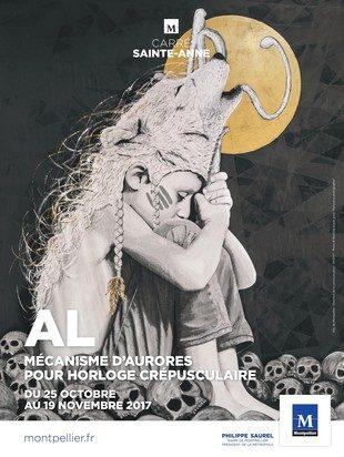 Les personnages des « horloges crépusculaires » de AL Sticking sonnent le glas des illusions au Carré Saint-Anne [Montpellier]
