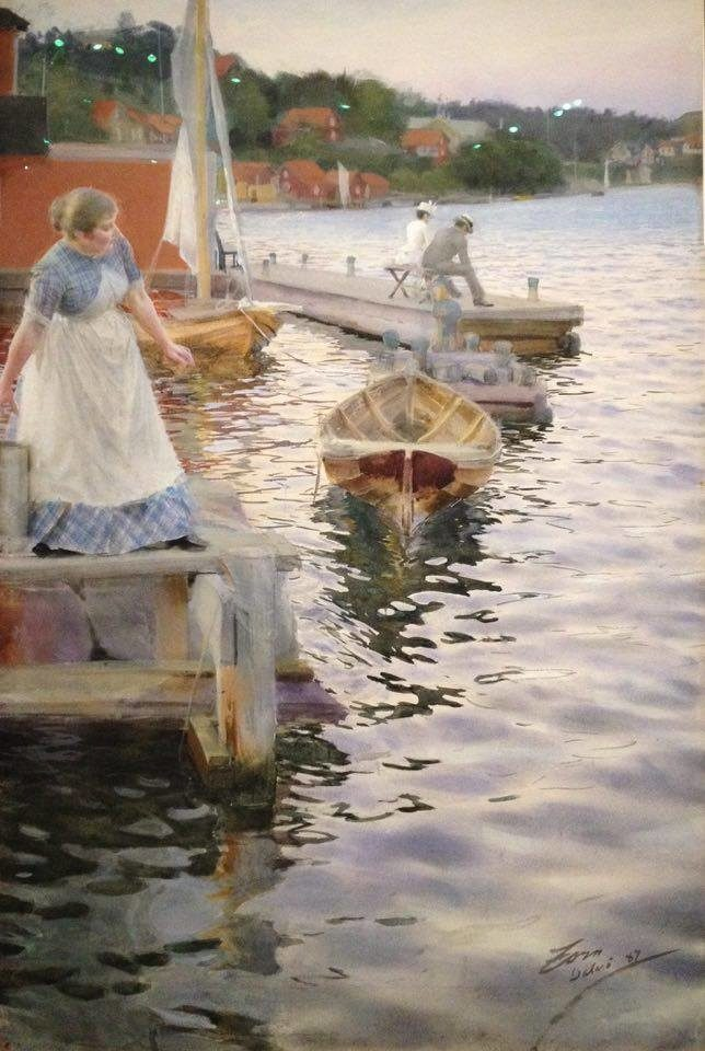 L'eau et le peuple suédois sublimés par Anders Zorn au Petit Palais