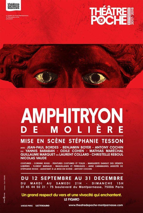 AMPHITRYON DE MOLIERE MISE EN SCENE STEPHANIE TESSON AU POCHE MONTPARNASSE.
