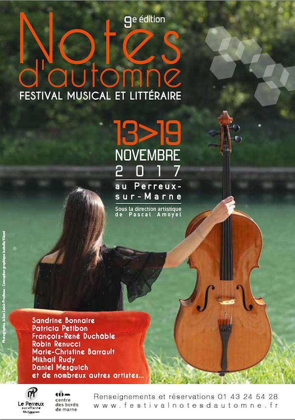 Playlist Partenaire – Festival Musical et Littéraire Notes d'Automne (13-19 nov)