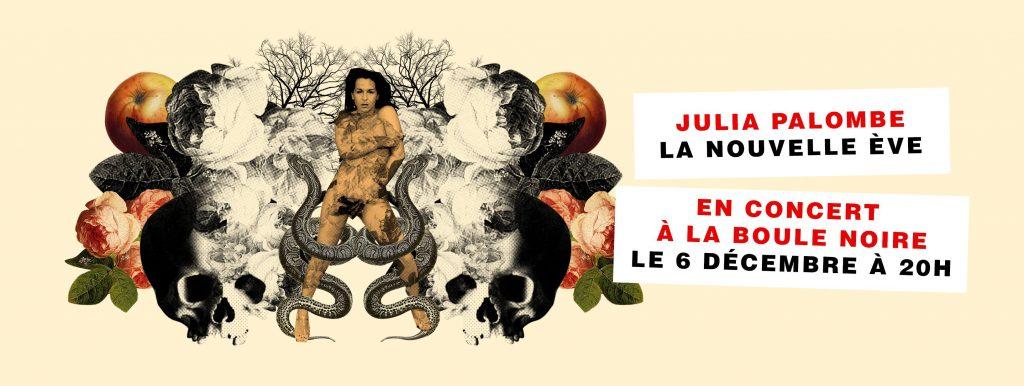 Gagnez 3×2 places pour le concert de Julia Palombe (6 déc – La Boule Noire, Paris)