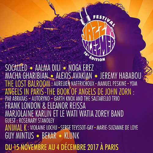 Playlist partenaire – festival Jazz'N'Klezmer (15 nov – 4 dec. Paris)