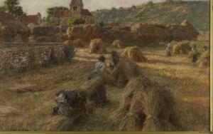 Léon Lhermite, La moisson. Les lieuses de gerbes, 1897. © Petit Palais/Roger-Viollet