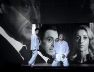 LA TEMPETE -  De William SHAKESPEARE -  Mise en scene : Robert CARSEN -  Scenographie : Radu BORUZESCU -  Costumes : Petra REINHARDT -  Lumieres : Peter VAN PRAET et Robert CARSEN -  Video : Will DUKE -  Avec :  Michel VUILLERMOZ (Prospero) -  Elsa LEPOIVRE (Iris Ceres et Junon) -  Serge BAGDASSARIAN (Antonio) - Christophe MONTENEZ (Ariel) -  Le 29 11 2017 -  A la Comedie Francaise -  Photo : Vincent PONTET