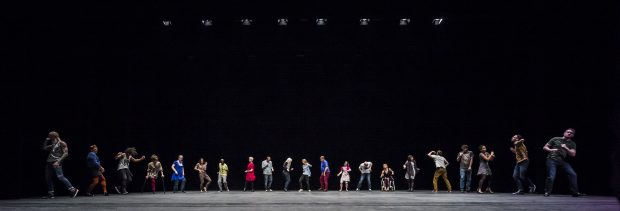 Sadler's Wells presents a weekend of inclusive dance from Friday 20 - Sunday 22 March 2015. Candice Dance Company, a contemporary dance company of disable and non-disabled performers, presents a restating of Jérôme Bel's award-winning The Show Must Go On on the Sadler's Wells main stage tonight and tomorrow. The weekend also includes the final performances of the inaugural year of the Sadler's Wells =dance series, a presentation of inclusive dance by both established and emerging deaf and disable artists in the Lilian Baylis Studio.