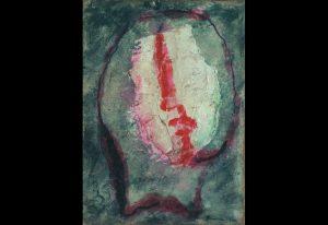 Jean FAUTRIER, Tête d'otage no. 20, 1944 Huile sur papier marouflé sur toile, 33 x 24 cm Collection privée, Cologne © Adagp, Paris, 2017