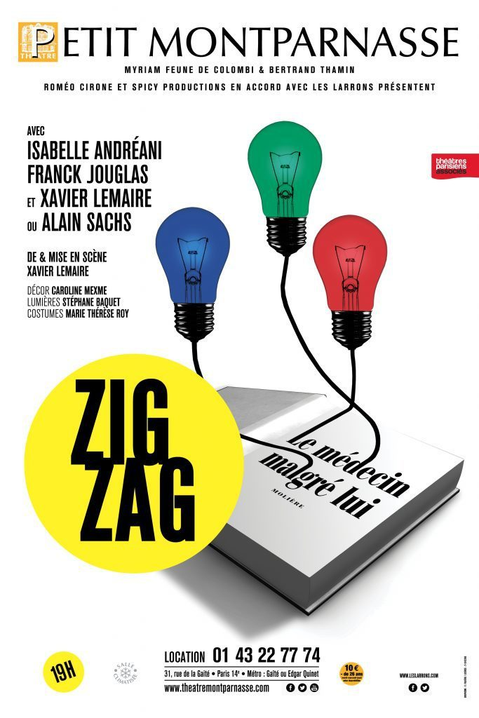 Une pièce en «Zig Zag» de Xavier Lemaire au Petit Montparnasse