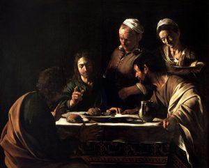 Le Caravage, Le souper chez Emmaüs, 1606