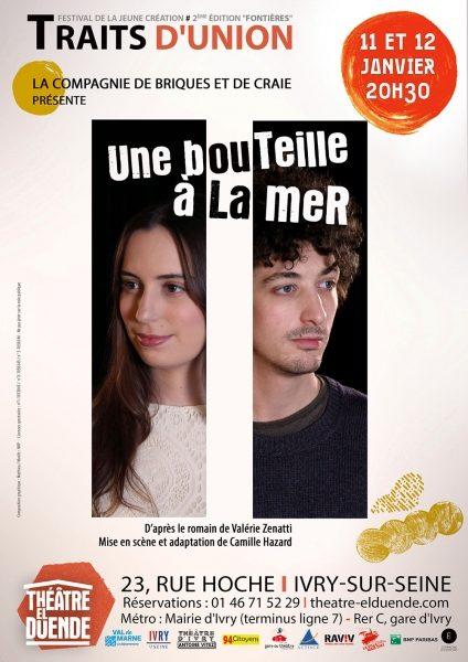 Festival Trait d'Union : Une Bouteille à la Mer d'apres le roman de Valérie Zenatti