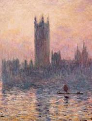 Claude Monet (1840-1926) Londres, le Parlement. Trouée de soleil dans le brouillard 1904 Huile sur toile H. 81 ; L. 92 cm © RMN-Grand Palais (Musée d'Orsay) / Hervé Lewandowski