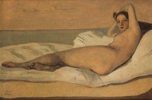 """Jean-Baptiste-Camille Corot, """"Marietta ou L'Odalisque romaine"""" 1843, Paris, Petit Palais, musée des Beaux-Arts de la Ville de Paris © Petit Palais / Roger-Viollet"""