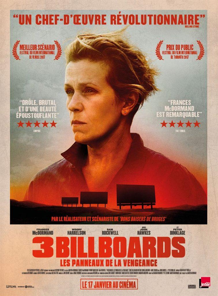 [Critique] du film « Three billboards » Magnifique tragi-comédie noire, entre vengeance et pardon