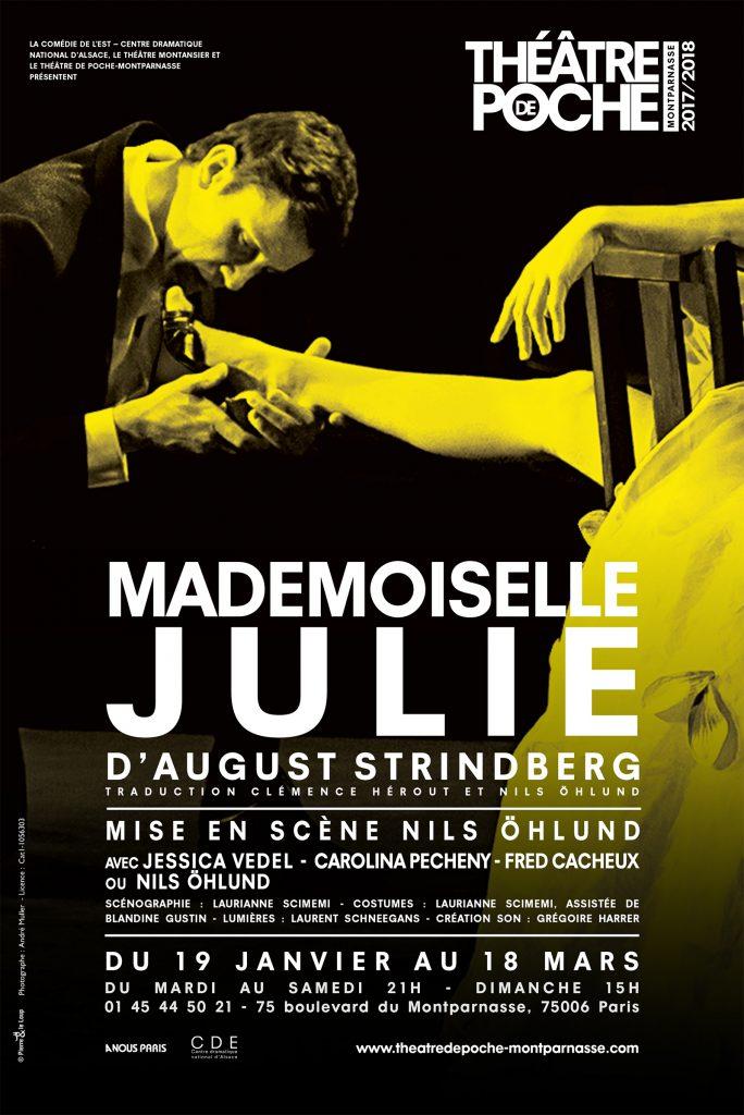 Mademoiselle Julie d'August Strindberg au Poche Montparnasse