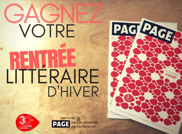 Gagnez 5 x 1 exemplaire de la revue PAGE des libraires Hiver 2018