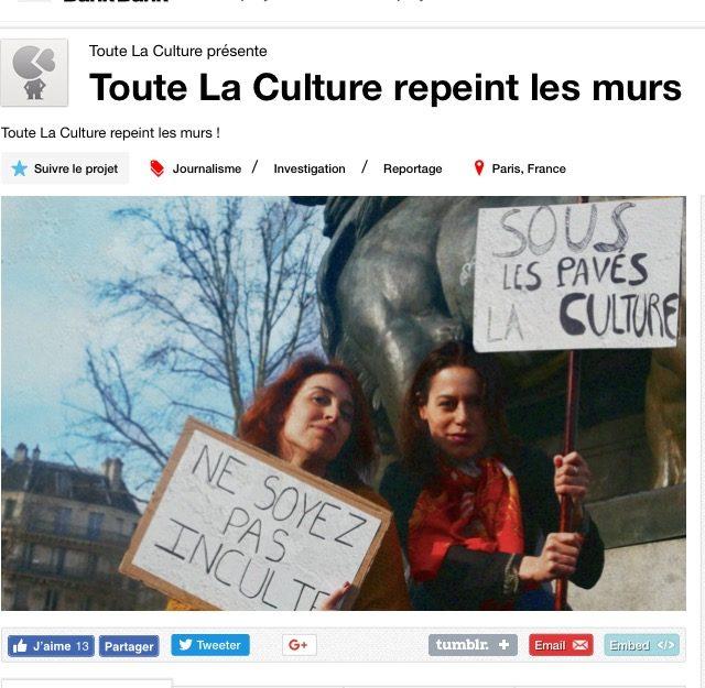 Toute La Culture repeint les murs !