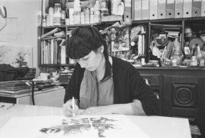 Noémie Sauve dans son atelier @DarioRudy